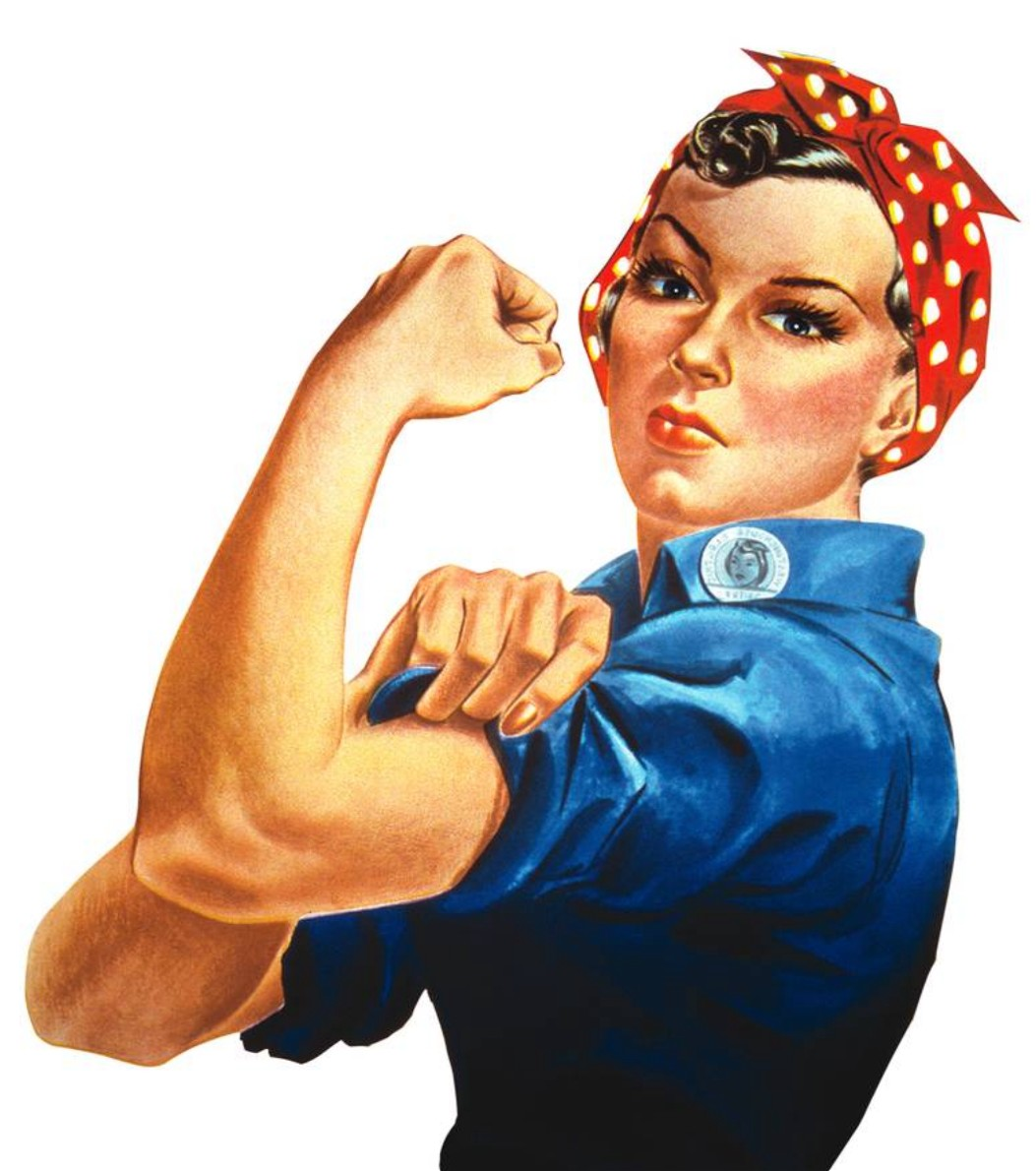 Image of Rosie the riveter for McDermott and McDermott women's divorce women's rights divorce attorneys